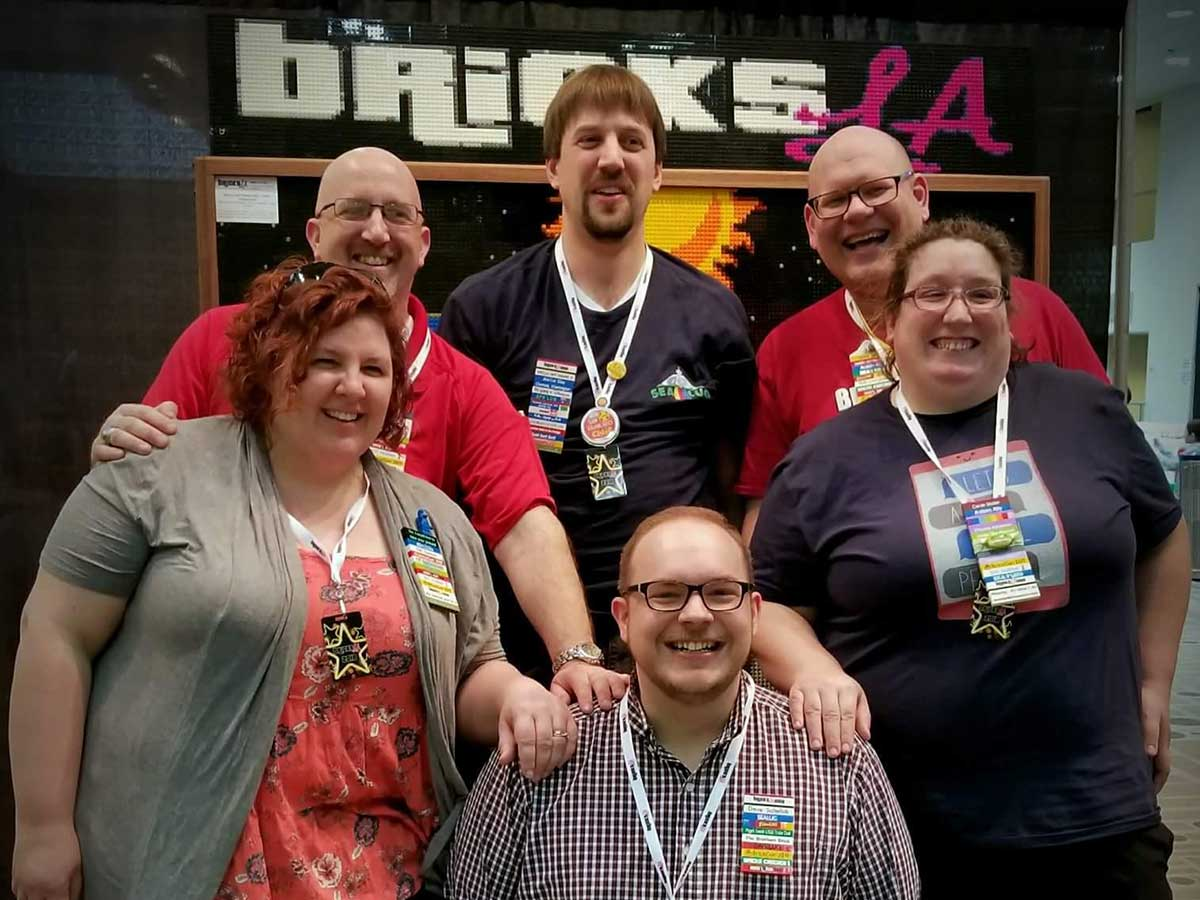 SEALUG members at BricksLA 2018